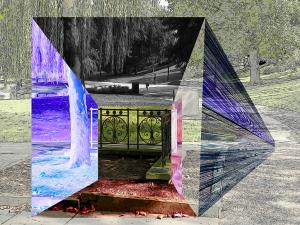 Cleveland Park Gate by Yolanda V. Fundora, Digital Image (2013)