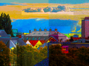 Rooftops of Amsterdam by Yolanda V. Fundora, Digital Image (2013)