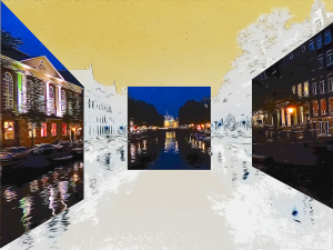Amsterdam Canals #1 by Yolanda V. Fundora, Digital Image (2013)