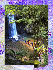 Waterfall Pilgrimage at Ohiopyle by Yolanda V. Fundora, Digital Image (2013)