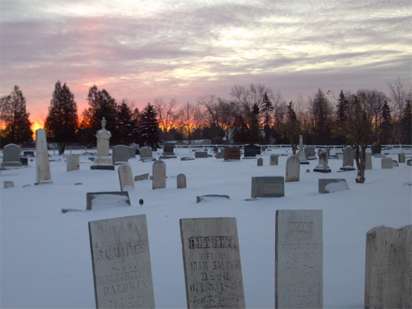 Graveyard at Sunrise by Dianne Kellogg, photograph, 2014